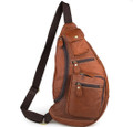"""Mombasa"" Soft Leather Single Shoulder Sling & Tablet Case - Natural Tan"
