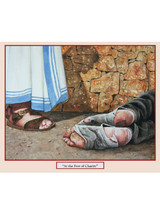 AT THE FEET OF CHARITY - Print - by Tommy Canning