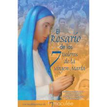 In Spanish Libro de Bolsillo de El Rosario de los 7 Dolores (Seven Sorrows Rosary) Booklet with Immaculee