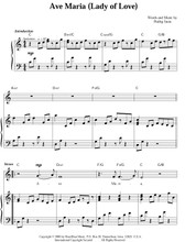Ave Maria-Lady of Love - Sheet Music - (download) by Phillip K Stein