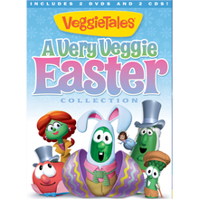 A VERY VEGGIE EASTER COLLECTION by Veggie Tales Includes 2 DVDs & 2 CDs