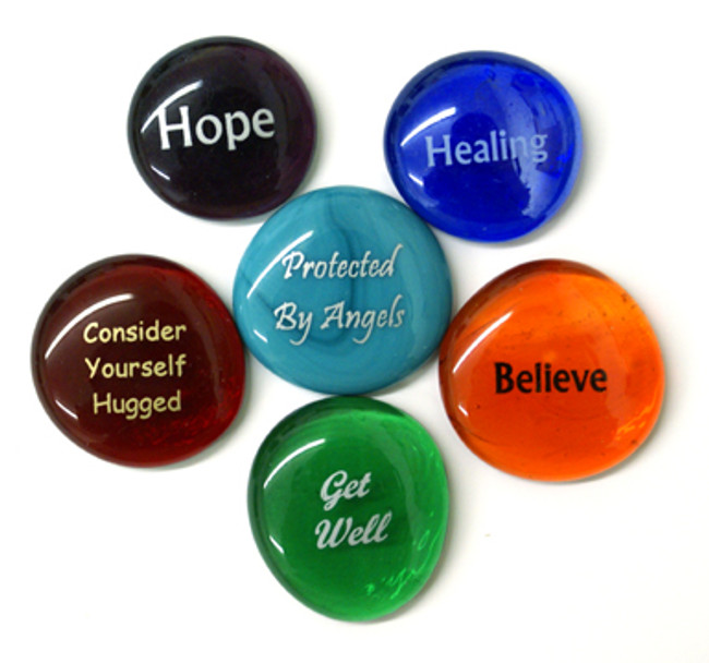 Get Well Stones, set of six. From Lifeforce Glass.