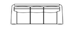 sofa large line drawing