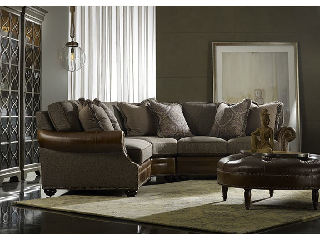 220 Amr Warner Sectional Leatehr/Fabric Combo