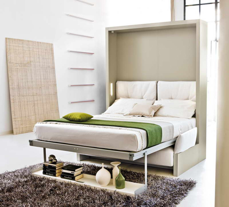 Image of a small murphy bed