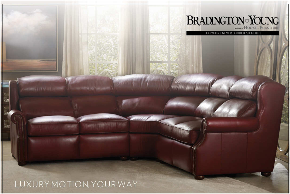 Choose a nail head option and wood finish : bradington young sectionals - Sectionals, Sofas & Couches