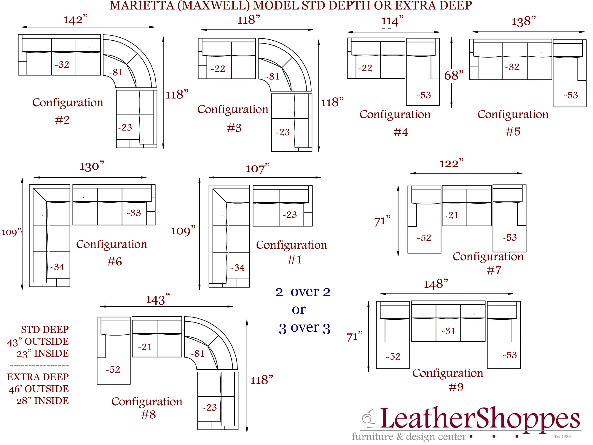 Click to view Marietta Layout page. Marietta Sectional Collection.  sc 1 st  LeatherShoppes : sectional sofa layout - Sectionals, Sofas & Couches