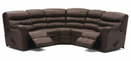 5pc Reclining Sectional. Consists of 2-recliners, 2-armless chairs,1 corner