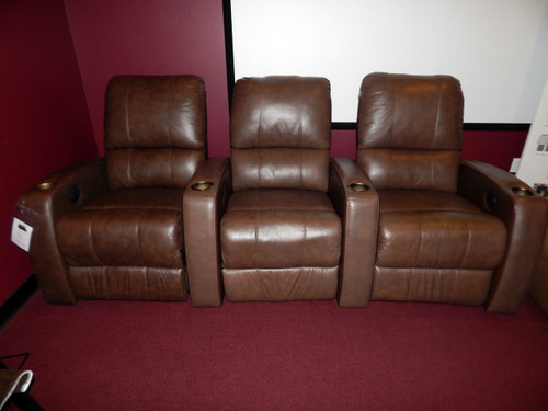 clearance sale home theater recliner pacifico 41920 row of 3. Black Bedroom Furniture Sets. Home Design Ideas