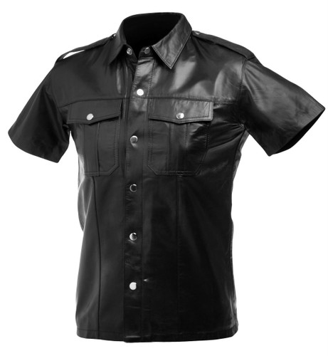 Lambskin Leather Police Shirt (XL)