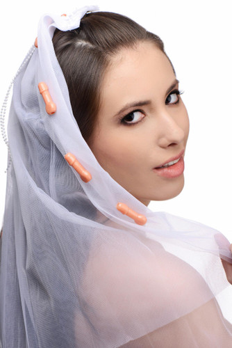 Bachelorette Party Penis Bridal Veil