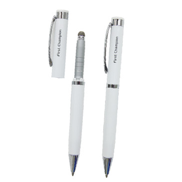 2 in 1 Stylus Touch Pen and Ball Pen - WHITE