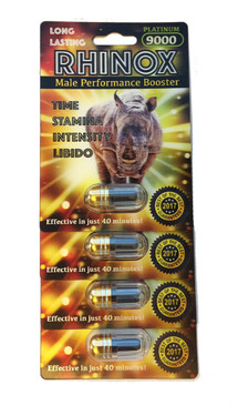 RHINOX 9000 - Fast Acting Male Enhancement (4-pack)