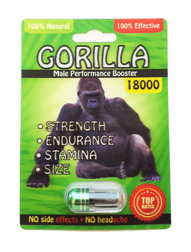 GORILLA 18000  - Fast Acting Male Enhancement