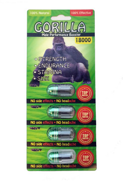 GORILLA 18000  - Fast Acting Male Enhancement (4-pack)