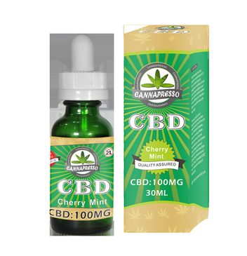 CBD E-Liquid 100 MG - Cherry Mint (30ml)