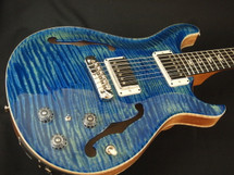 PRS 2017 Hollowbody 2 River Blue 10 Top & Back, Ebony FB