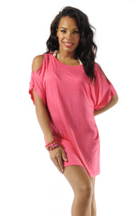 Open Sleeve Cover-Up - Pink