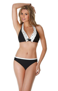 Eco Galaxy Collared Halter Bikini