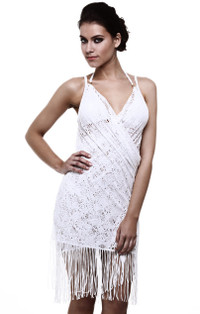 Gypsy White Wrap Dress Cover-Up by Guria