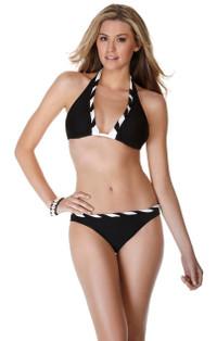 Eco Soids Twist Halter Bikini