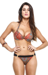 Coral Reef Underwire Halter with Flip Bottom