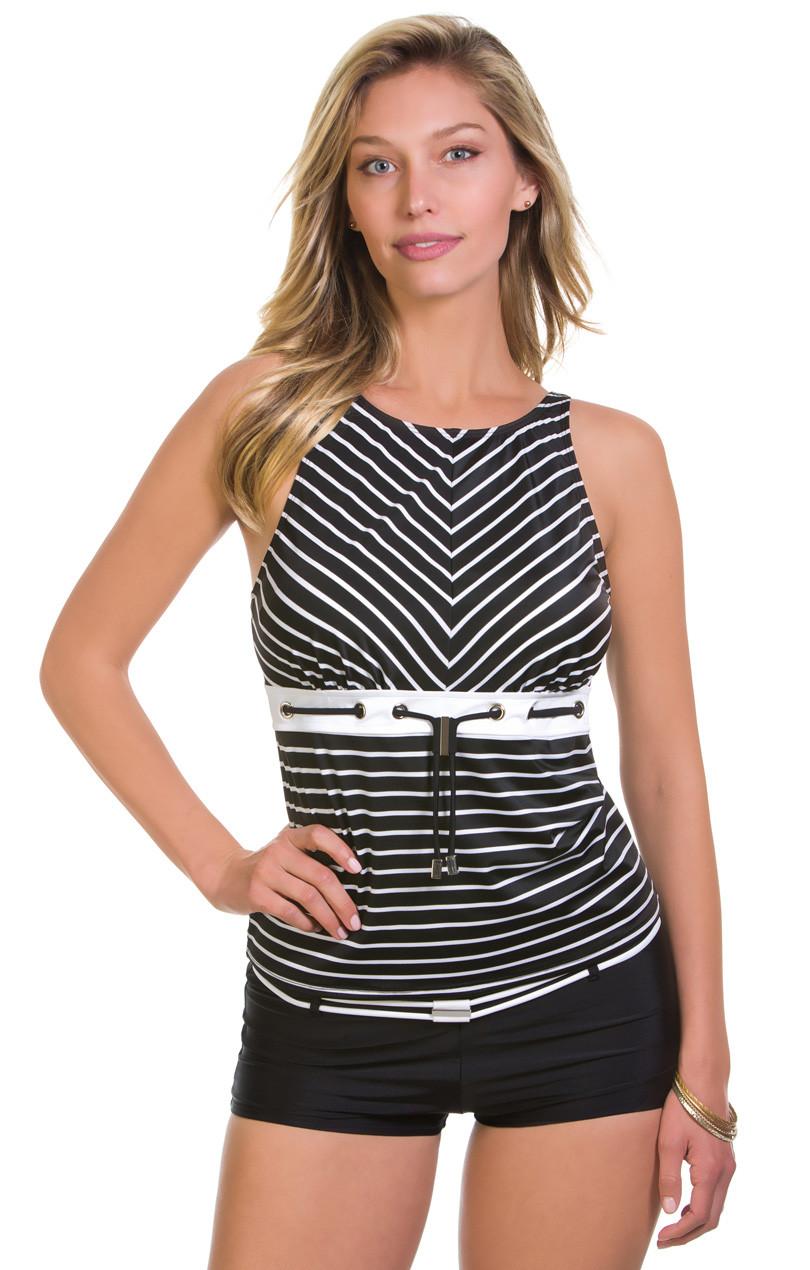 491e204bed Eco Sailor Stripe Grommet Tankini. Price: $78.00. Image 1