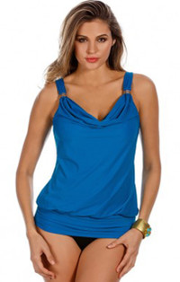Luxe Peacock Tankini Top