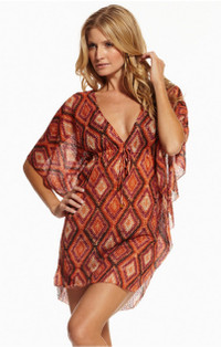 Coral Diamond Caftan