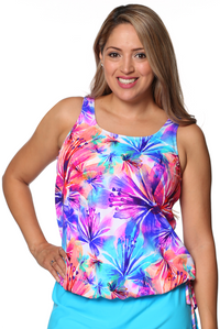 Mastectomy Blouson Tankini Top - New 2019 Prints!