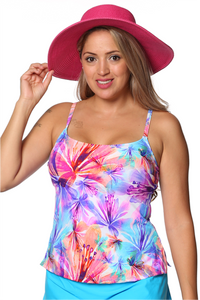 Thin Strap Tankini Top - New 2019 Print!