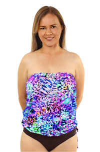 Bandeau Blouson Tankini Top - New 2020 Collection!