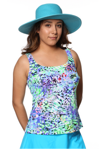 Classic Tankini Top - Size 14 in Lily Pad