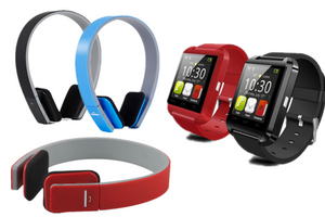 Bluetooth Smart Watch and Bluetooth Headphones Bundle