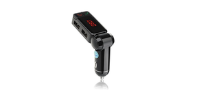 Wireless In-car Bluetooth FM Transmitter with Dual USB Car Charger