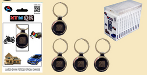 MYidQR keyring with identity barcode