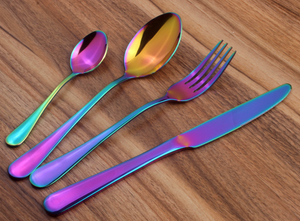 Stunning look 8/16 Piece Holographic Cutlery Set