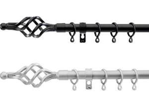 Extendable Metal Curtains Rod 1.7m-2.5m