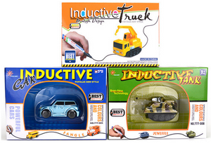 Magic Follow Any Drawn Line Pen Inductive Toy Car Truck Bus Tank Model