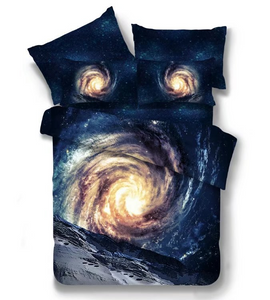 3D Galaxy Bedding Set 3pcs/4pcs