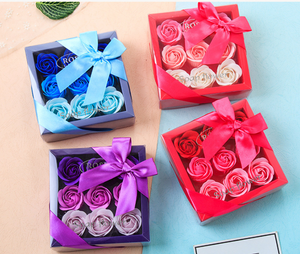 Handmade Soap Rose gift box 4pcs/9pcs