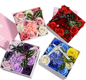 Luxury Handmade flower soap gift set