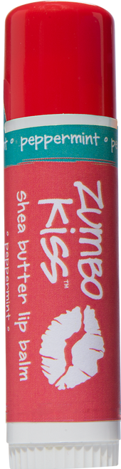 Peppermint Zumbo Jumbo Kiss Stick Shea Butter Lip Balm Indigo Wild 0.5oz