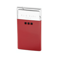 Elie Bleu Delgado Jet Flame Lighter Red Lacquer
