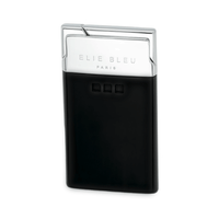 Elie Bleu Delgado Jet Flame Lighter Black Lacquer