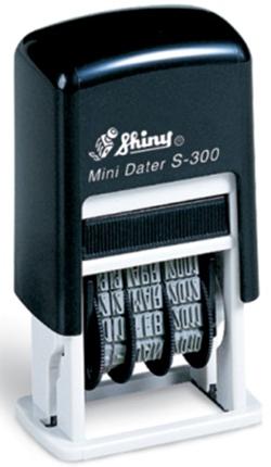 Shiny® Self-inking Mini Dater Stamp - Black (1 Piece)