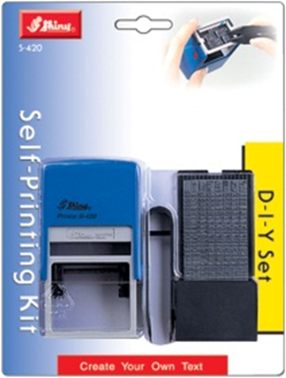 Shiny® Self-inking Printing Kit - 4mm Text - 5 Lines (Blistercard)