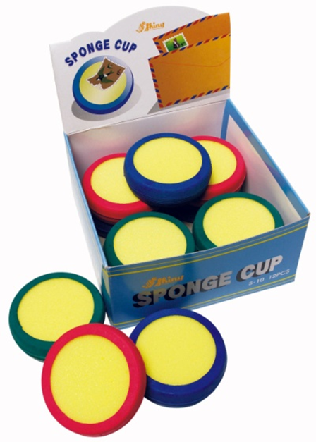 Shiny® Sponge Cup 80mm Diameter - Assorted Colours (Box of 12)