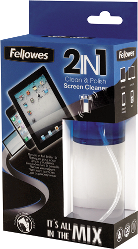 Fellowes Technology Cleaning - 2IN1 - Screen Cleaner & Cloth - 125ml Spray Bottle