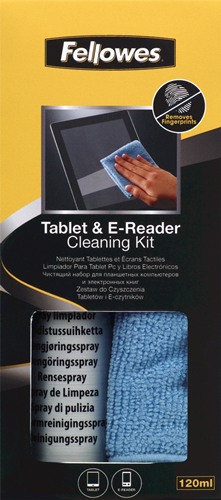Fellowes Technology Cleaning - Table & e-Reader Cleaning Kit - 120ml Spay Bottle